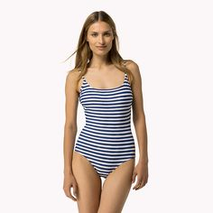 Shop the grey striped bathing suit and explore the Tommy Hilfiger swimsuits collection for women. Free returns & free delivery over €100. 8719254424457
