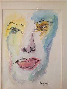 Akvarell och tusch