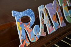 Boy Customized Wooden Letters Scooby Doo by mamasfavthings on Etsy, $7.50