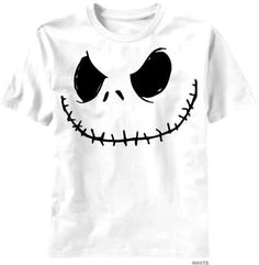 Nightmare Before Christmas, the Smilin Jack White Mens T-shirt (m) Disney,