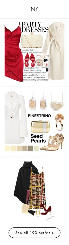 """""""NY"""" by ajd2 ❤ liked on Polyvore featuring MaxMara, GUESS by Marciano, MAC Cosmetics, Bobbi Brown Cosmetics, contestentry, polyPresents, Khaite, Jimmy Choo, Nina and Chloé"""