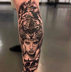 ▷ 1001 ultra cool tiger tattoo ideas for inspiration - diy tattoo project Forearm Sleeve Tattoos, Leg Tattoos, Body Art Tattoos, Maori Tattoos, Trendy Tattoos, Great Tattoos, Tattoos For Guys, Inspiration Tattoos, Tattoo Ideas