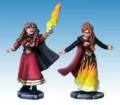 Female Elementalist Wizard and Apprentice