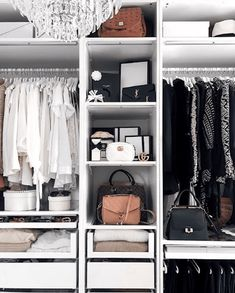 Discover 10 Closet Storage Tricks to Organize Your Closet Is your closet overflowing? Discover the best closet storage ideas to help you gain more control over your closet space. Closet Bedroom, Closet Space, Walk In Closet, Bedroom Decor, Closet Rod, Closet Storage, Closet Organization, Closet Hacks, Towel Storage