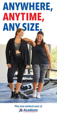 Academy Sports has fitness gear for all sizes - including Plus! Shop their selection of Plus size pants, tops, shoes, and so much more - visit Academy.com today!