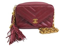 #Chanel Chain Shoulder Bag Fringe V Stitch Caviar Skin Red (BF069973). Authenticity guaranteed, free shipping worldwide & 14 days return policy. Shop more #preloved brand items at #eLADY: http://global.elady.com