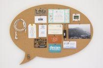Custom Shaped Cork Pin Board - Speech Bubble round