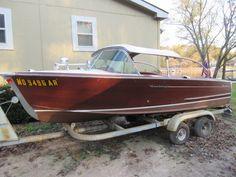 All Original 1960 Century Resorter Wood Inboard Sliding Top in Sunrise Beach, MO