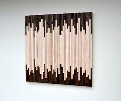 Arte de pared de madera  arte escultura de madera reclamada