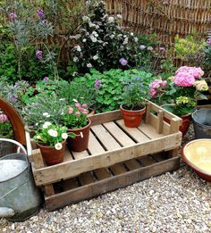 Vintage fruit and veg crates for display and storage, indoors and out from Lavender House Vintage  #vintage#storage#garden#crates#home
