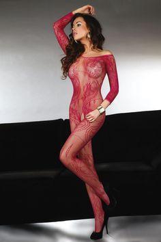 Livia Corsetti - Abra Maroon erotyczne bodystocking LC 17086