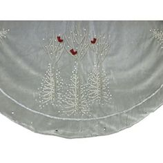 Christmas Tree Skirt with Crystals and Birds - jcpenney
