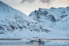 Surfing i Lofoten