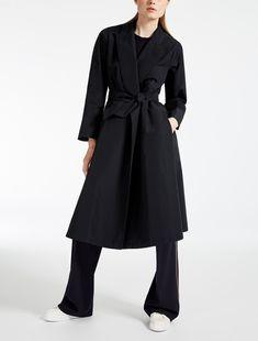 "Drop-proof faille duster coat, ultramarine - ""OMBRA"" Max Mara"