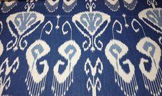 "Kravet Bansuri Iris Blue Ikat 100 Linen Multiuse Designer Fabric 1 7 Yards 54""W | eBay"