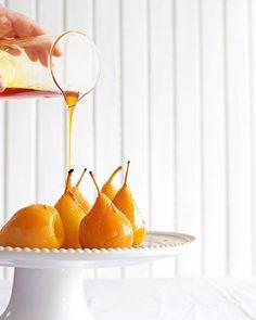 Sauvignon saffron pears with yoghurt cream – Melkkos & Merlot Sago Recipes, South African Recipes, Ethnic Recipes, Cinnamon Quill, African Dessert, Savory Rice, Dry White Wine, Pears