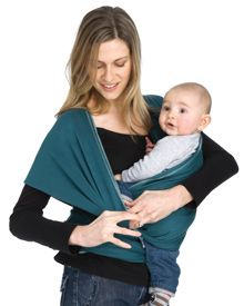 The Hug Hold. One of our favorite ways to wear your new Moby Wrap. Use this hold when baby is fully stretching legs (3-4 months).  This tutorial has everything you need to get started, including a video! #babywearing #mobywrap