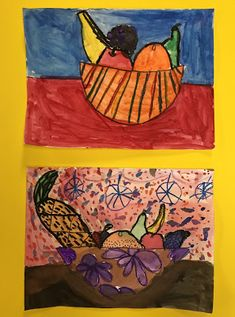 Elements of the Art Room: 2nd grade Paul Cezanne inspired Fruit bowls Fruit Art Kids, Fruits For Kids, Fruit Bowls, Paul Cezanne, French Artists, Apple Pie, Inspired, Artwork, Projects