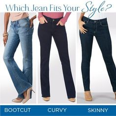 Confused about jean cuts? Don't think you can wear skinny jeans? Check out the quickfire guide and open up a brand new world of denim possibilities! #denim #jeans