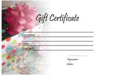 Gift certificate templates free printable gift certificates for gift certificate templates free printable gift certificates for any occasion home pinterest free printable gift certificates gift certificate yelopaper Images