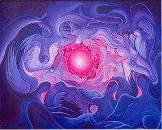 dit is een centrale compositie want je aandacht wordt gelijk naar het midden van het kunstwerk getrokken.