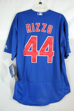 355a878f6 Chicago Cubs Anthony Rizzo Blue Jersey Majestic Flexbase Mens Size 48   Majestic  ChicagoCubs