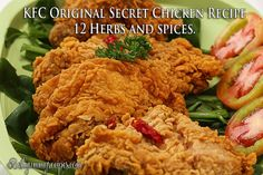 Original Secret Chicken~ KFC ~ 12 Herbs and Spices  ***I think you need way more oil than the recipe calls for.***