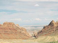 I-70 running through San Rafael Swell, Utah:  Capitol Reef NP ride to Moab,Utah