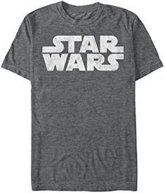 Authentic STAR WARS Simplest Logo Distressed Black T-Shirt S M L XL 2XL NEW