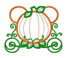 Character Pumpkin Carriage for Name or Initials by OMAdigitizing