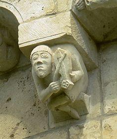 Musique et musiciens dans les églises romanes de Poitou-Charentes - Patrimoine et inventaire de Nouvelle-Aquitaine - site de Poitiers Romanesque Art, Romanesque Architecture, Architecture Romane, Art Roman, Poitou Charentes, Poitiers, Freemason, Middle Ages, Wood Carving
