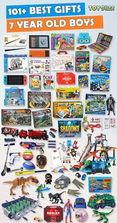 Gifts for 7 year old boys or girls for birthdays, Christmas, or any occasion. See the best toys for 7 year old boys. Tons of gift ideas for 7 year olds sorted by category for boys Gifts For 7 Year Old Boys 2019 – List of Best Toys Unique Gifts For Boys, Cool Toys For Boys, Gifts For Girls, Kids Gifts, Unique Toys, Boy Gifts, 7 Year Old Christmas Gifts, Christmas Toys, Christmas Gift Guide