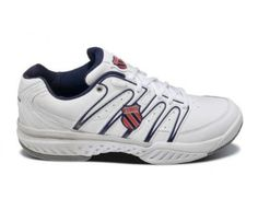 K-SWISS Bigshot Leather Men's Tennis Shoe, White/Navy/Red, US11.5 K-Swiss. $133.90