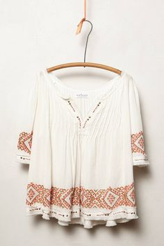 Reina Peasant Blouse - anthropologie.com