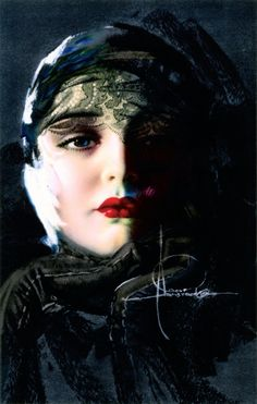 'Thinking Of You' - 1930's - by Rolf Armstrong (American, 1889-1960) - @~ Mlle