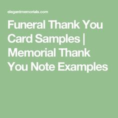 64 best funeral thank you cards images on pinterest in 2018