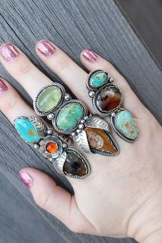 Rustic Bohemian Kingman Turquoise and Montaga by Afterdarkdesigns