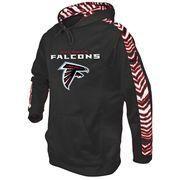 NFLShop.com - NFLShop.com Men's Atlanta Falcons Zubaz Black/Red Solid Hoodie - AdoreWe.com