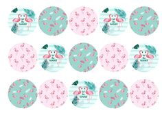 Edible cake toppers with flamingo images perfect for summer, available on standard rice paper or icing. All products are 100% edible and easy to use. Matching cake topper and cupcake toppers available, which are also suitable for use as cocktail toppers and ice cream decs. Next day delivery available - buy now!