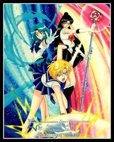 Super Outer Senshi in attack
