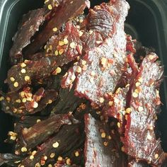 Maple Beef Jerky : 7 Steps (with Pictures) - Instructables Maple Beef Jerky Recipe, Smoker Jerky Recipes, Deer Jerky Recipe, Jerkey Recipes, Smoked Beef Jerky, Venison Recipes, Sausage Recipes, Meat Recipes, Dinner Recipes