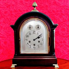 ANTIQUE VINTAGE JUNGHANS WURTTEMBERG BRACKET MANTLE CLOCK, WESTMINSTER CHIMES #Junghans