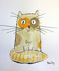 watercolor cat illustration / drawing