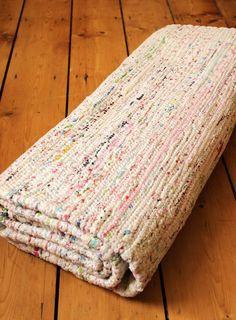 Scandinavian Cotton Rug 140x200, Mix Colours, £100 http://www.notonthehighstreet.com/bimbily/product/scandinavian-cotton-rug-140x200-cm