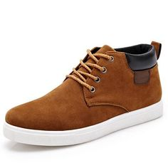 21.99$  Watch here - 2015 Winter New arrival Fashion Men Casual shoes suede shoes for men lace up men's flats zapatillas zapatos hombre NX127  #magazineonlinewebsite