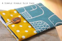 If you've got an e-reader and a stack of fat quarters, you're in luck! Make a kindle slip case with this simple tutorial from Laura at Charm Stitch. One fat quarter makes two cases, so, while you'r...