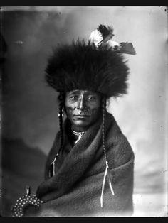 Big Loon, Blackfoot; photo by Ross, ca. 1885