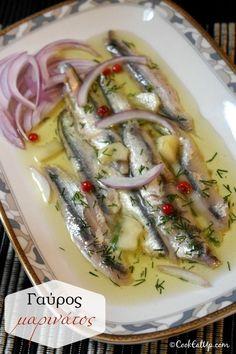 Γαύρος μαρινάτος Greek Recipes, Fish Recipes, Seafood Recipes, Italian Recipes, Italian Foods, Italian Chicken Dishes, Creamy Italian Chicken, Greek Fish, The Kitchen Food Network