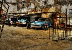 "Cuban Car Garage.    "":O)"