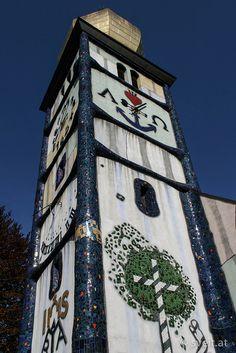 The church of Bärnbach, Styria, Austria. Designed by Austrian artist Friedensreich Hundertwasser.